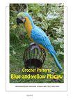 Мобильный LiveInternet вязаный попугай сине-жёлтый ара | Риоритта - Вязаные игрушки |