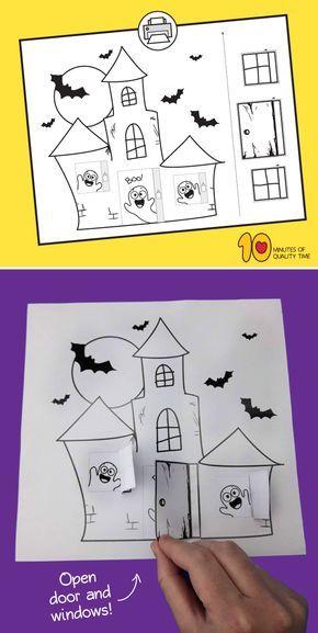 Spukhaus druckbare Handwerk  – Halloween
