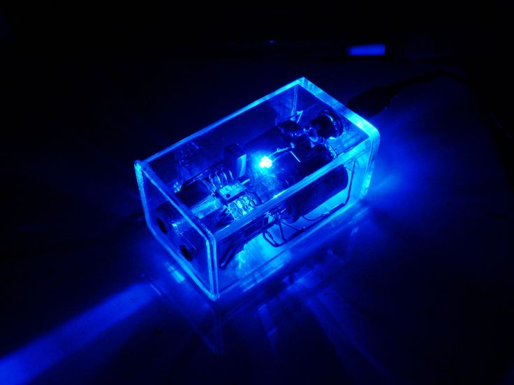 Crystal amp in Sapphire Blue.