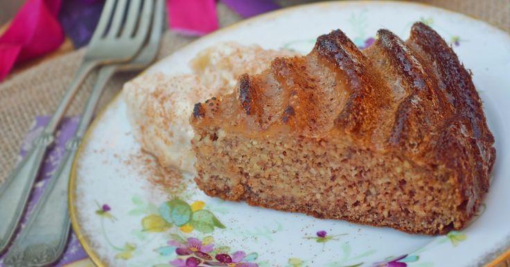 Almapürés mandulás sütemény - paleo