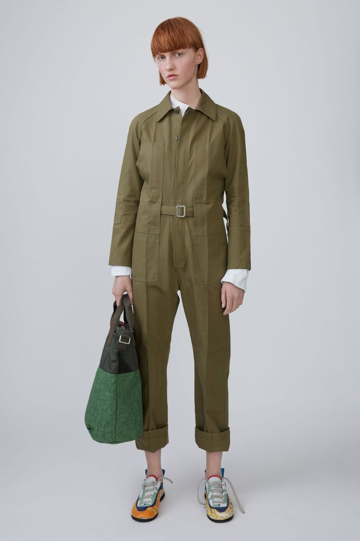 Acne Studios Blå Konst - Bolt Canvas khaki green