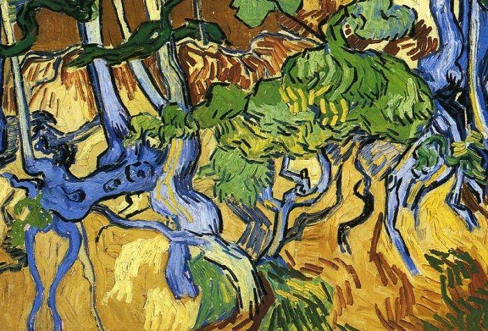 Корни деревьев (фрагмент). Винсент ван Гог, 1890 г. | Фото: ru.wahooart.com.