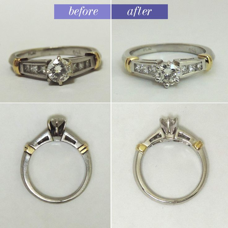 Cute After normal wear and tear this engagement ring was missing two prongs We added a