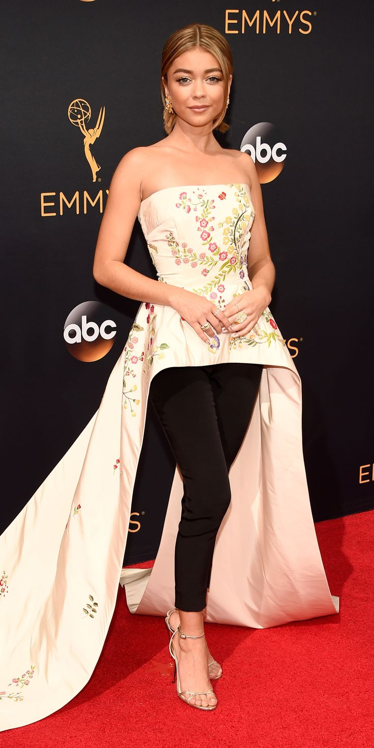 See the Hottest Looks from the 2016 Emmy Awards Red Carpet - Sarah Hyland from InStyle.com