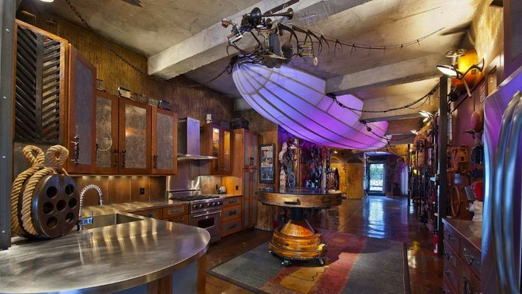 Welcome To The Surreal Steampunk Apartment Where Jules Verne Meets Tim