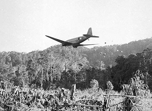 One of the biggest problems during the Kokoda campaign was supply. Douglas DC-3…