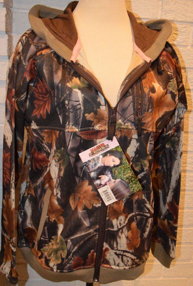 Women's Master Sportswoman Full Zip Hooded Camo Fleece Lined Jacket Coat L, 2XL #MasterSportswoman #BasicCoat