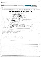 Atividades de produção de texto para o 4° ano - SÓ ESCOLA