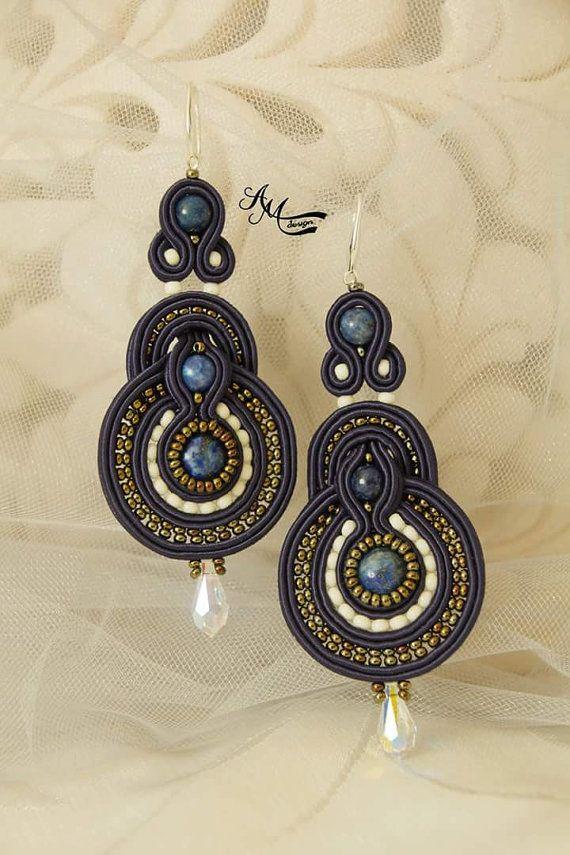 Soutache earrings.Handmade earrings
