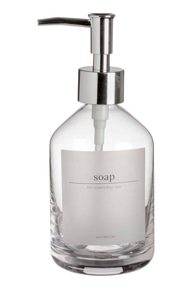 Glass Soap Dispenser Clear Glass Home All H M Gb Glass Soap Dispenser Soap Dispenser Glass Soap Pump