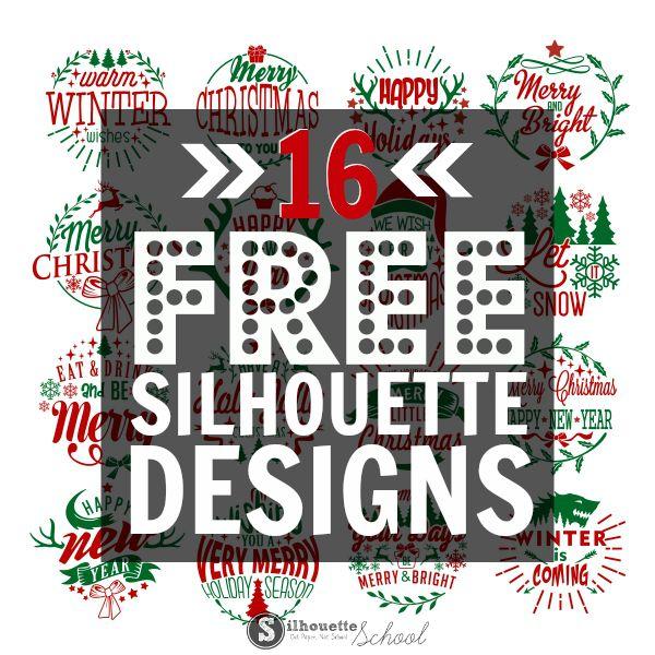 16 Free Silhouette Christmas Designs