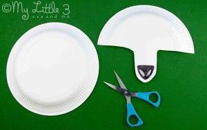 Step 1 paper plate lamb and sheep masks