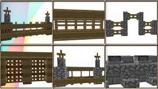 35 Minecraft Fence / Wall Design Ideas & Tricks!