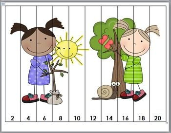Earth Day Counting Puzzles - Numbers 1-120