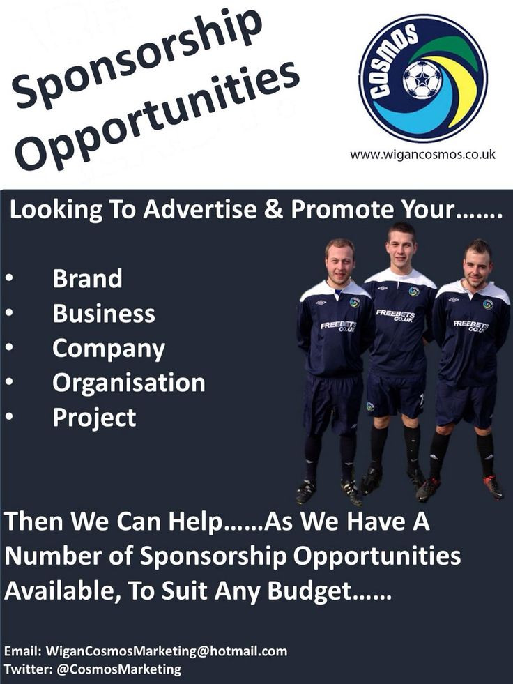 Cosmos Sponsorship Opportunities.....  Please get in touch....