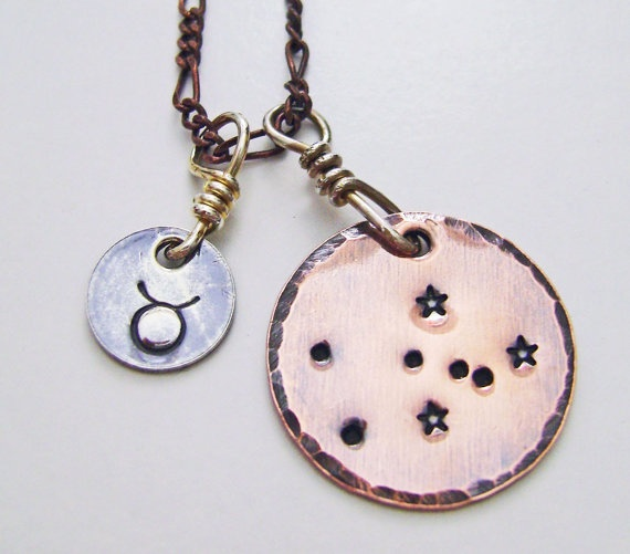 Taurus Necklace constellation necklace zodiac jewelry by ZennedOut, $54.50