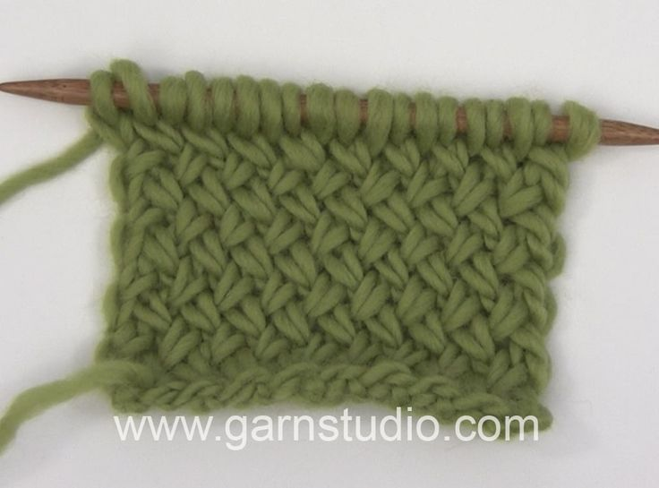 How to knit a basket pattern back and forth