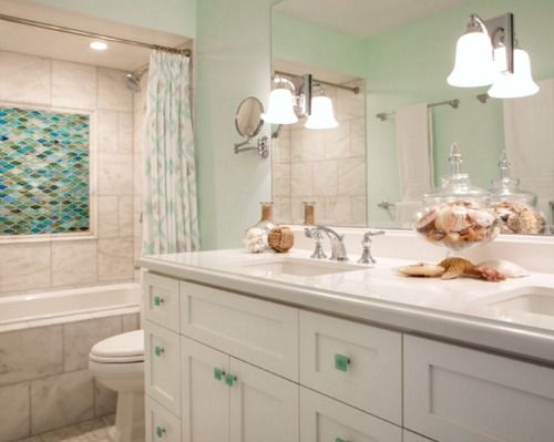 Coastal Shower Designs: 146 Best Images About Coastal Bathrooms On Pinterest