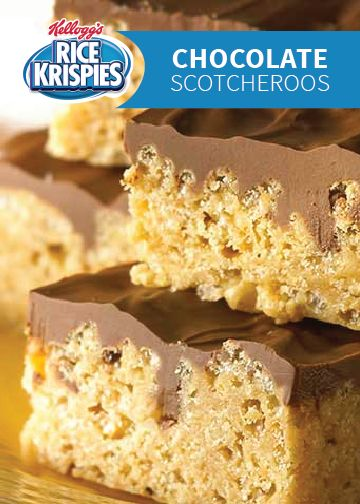 With chocolate, butterscotch, and peanut butter all wrapped up into one yummy snack, these Rice Krispies Treats® are sure to be a big with the kids after school.