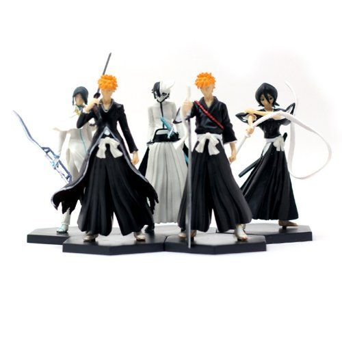 BLEACH Ichigo Ishida Rukia Ulquiorra Figures 5 pcs 6th by Bleach. $24.99. (2)Size:about 12cm. Chinese Version, but in good quality, Worthy to buy!. Packaged in Retailed Box. (1)Material: PVC. Packing including: Bleach Figure x 5. Free Shipping to Worldwide and Register Mail with tracking information!