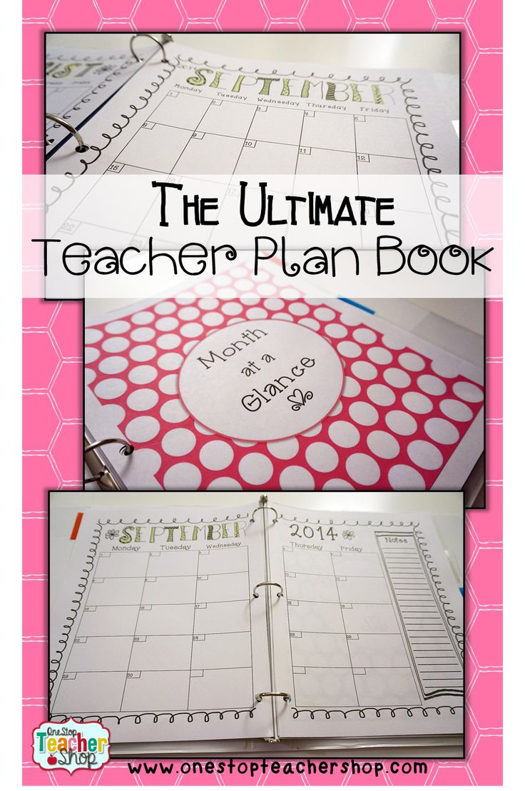 Read about how to put together the Ultimate Teacher Plan Book (binder).