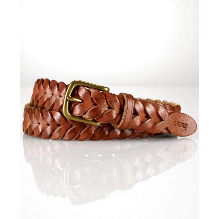 Ralph Lauren Braided Leather Belt in Brown for Men (Tan)