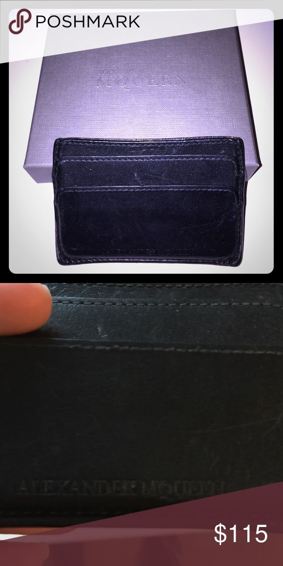 Alexander McQueen Card Holder Used. Still in great working condition. Purchased from Nordstrom. I will accept best offer Alexander McQueen Accessories Key & Card Holders