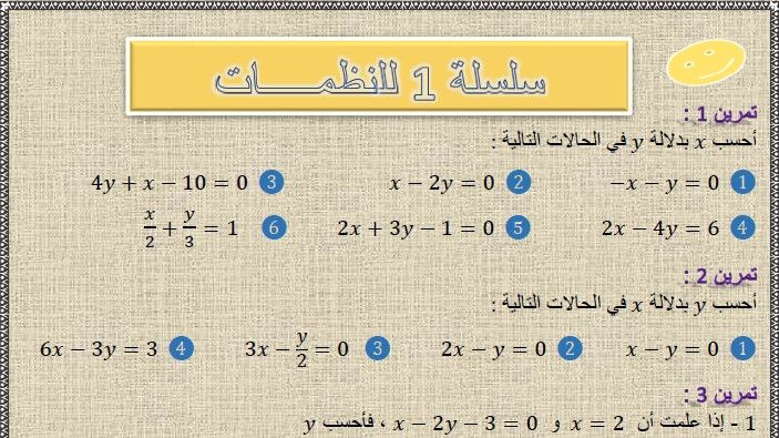 تمارين وحلول السلسلة 1 نظمة معادلتين من الدرجة الأولى بمجهولين في مادة الرياضيات لتلاميذ السنة الثالثة إعدادي الدورة 2 Systeme De 2 Math Bullet Journal Journal
