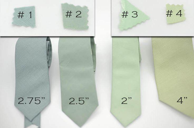 matte linen green shades solid ties,grey jade,pistachio,hemlock,dusty shale,wedding ties,groom,groomsmen,men,wedding set,green wedding color by Kraft2Kotton1Korner on Etsy https://www.etsy.com/listing/238113492/matte-linen-green-shades-solid-tiesgrey