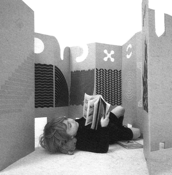 Promotional image for Il posto dei giochi (English: The Place Of Games), known also as Wall, Italy, 1961-67, by Enzo Mari for Danese.