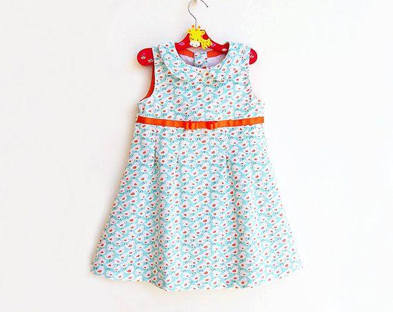 TWEET TWEET Girl Dress sewing pattern Pdf, Sleeveless Sundress, toddler, size 3 4 5 6 7 8 9 10 yrs Instant Download