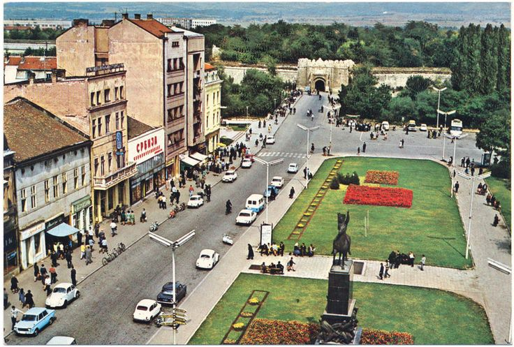 Incredibly Boring Postcard (10)  Niš - City Center (Yugoslavia – Serbia, late 1960s)