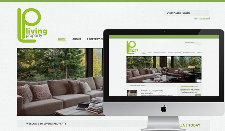 Living Property website design.