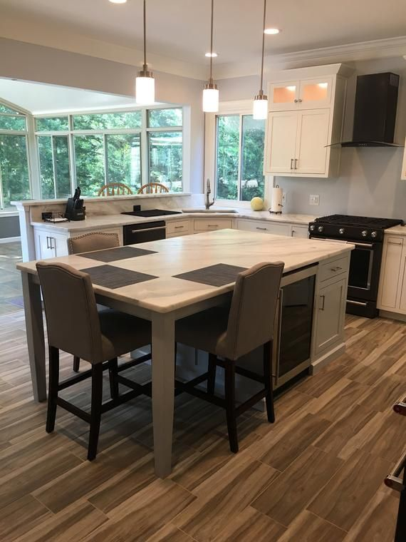 All Pullouts And Inserts Shown In Pictures Are Optional And Not Included In The Listed Custom Kitchen Island Kitchen Island With Seating Kitchen Island Design