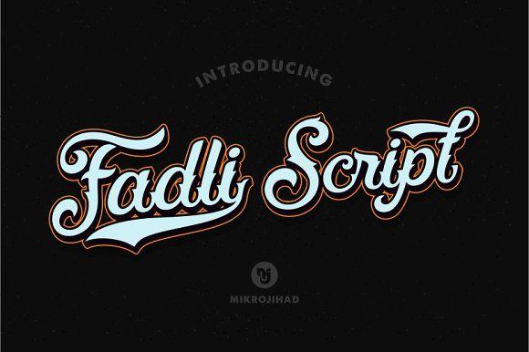 Fadli Script by Mikrojihad Typography on @creativemarket