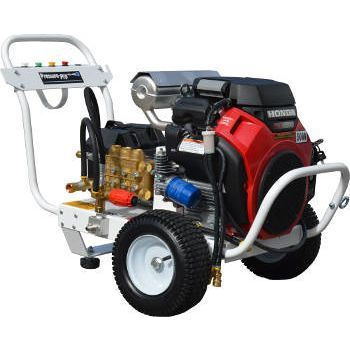 The Pressure Pro P-B4550HGEA511 High Pressure Contractor Grade Pressure Washer is a GX630 Honda Motor Powered 5000 PSI / 4.5 GPM pressure cleaner with a TSP1821