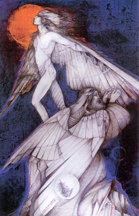 """ Icarus and Daedalus ""by Susan Seddon Boulet"