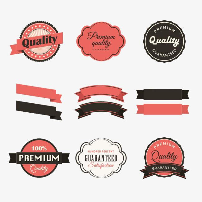 Retro Ribbons And Stickers Vector Material Label Banner Sticker Png Transparent Clipart Image And Psd File For Free Download Vintage Labels Vector Free Free Vector Graphics