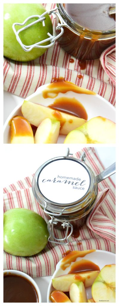Recipes | This Homemade Caramel Sauce is delicious, easy to make and better than store bought.  Option to make it salted caramel too if you like Salted Caramel Sauce!