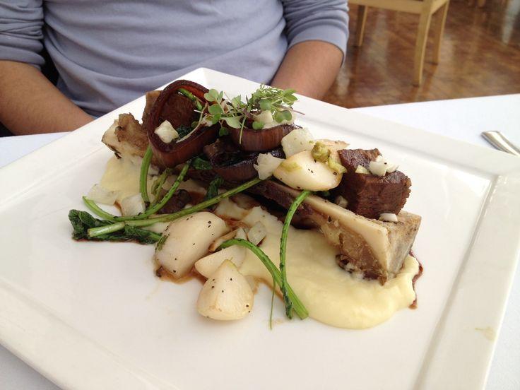 Steak with bone marrow