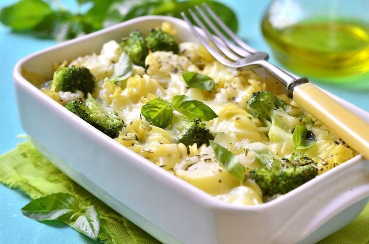broccoli and cauliflower pasta bake