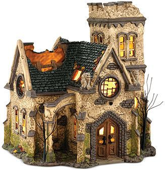 department 56 halloween village the haunted church collectible figurine halloween