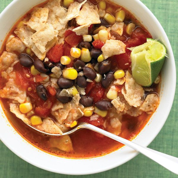Tortilla Soup with Black Beans Recipe | Food Recipes - Yahoo! Shine