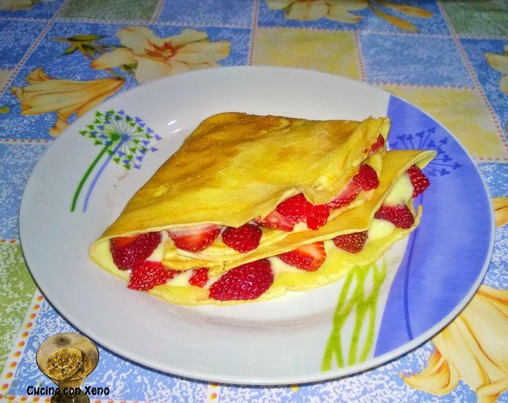 Cucina con Xeno: Crepes di riso con fragole in crema - Light