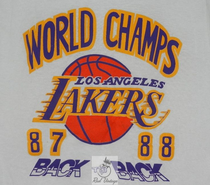 Los Angeles Lakers Back to Back Champions Vintage T-Shirt