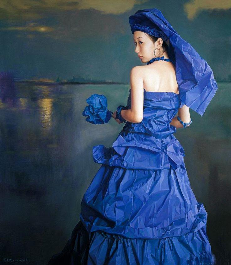 Zeng Chuanxing 曾传兴 (1974) —  Blue Paper Bride, 2005  (870×1000)