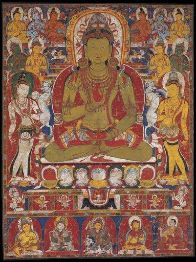 Amoghasiddhi Bouddha (HimalayanArt)