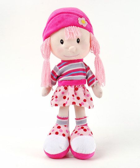 16'' Girl Rag Doll: Girls Rag, Adorable Outfits, Darling Dolls, Cudd Companion, Rag Dolls, Dolls Zulilyfind, Sleepover Parties, Linzi Toys, Easy Travel
