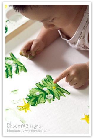 Cute idea for Christmas tree..fingerpainting