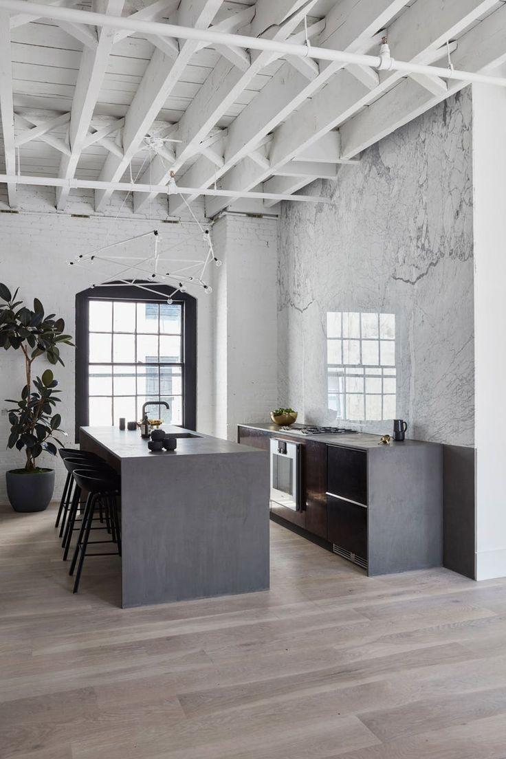 Sort og hvitt kjøkken